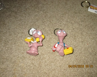 E.T. Key Chains 1988 Applause Toy Company Mint Shape never used E.T. Movie Items Sci-Fi Movie