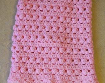 Pink Baby Blanket/Afghan Handmade