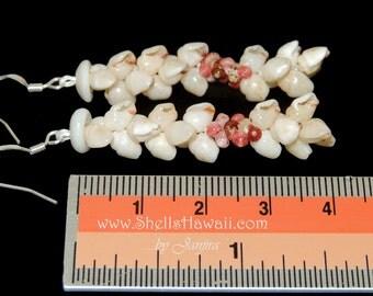 """1 1/2"""" Niihau Momi & Kahelelani shell earrings"""