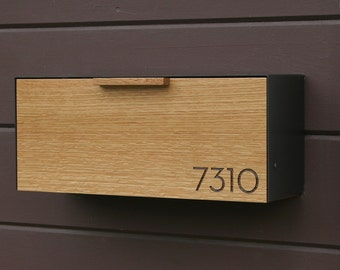 Modern Mailbox,  White Oak and Stainless Steel Mailbox