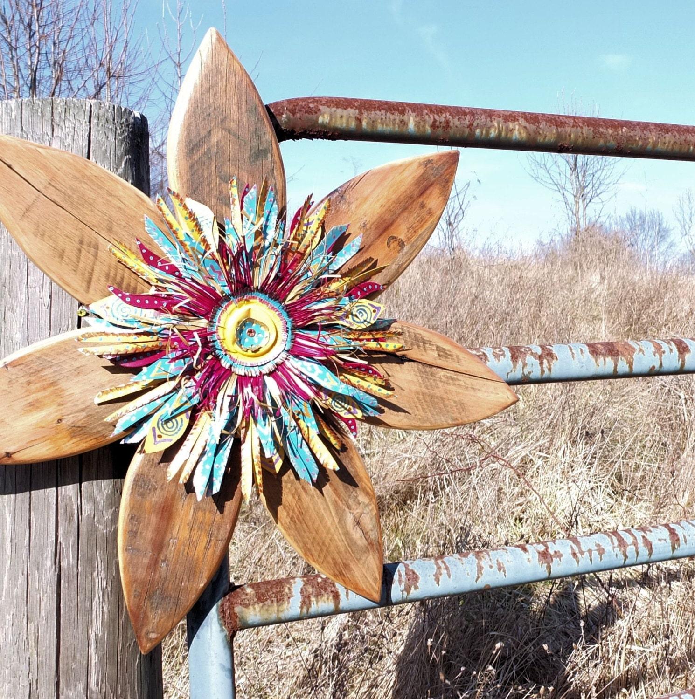 Rustic Wall Decor Farmhouse Decor Reclaimed Wood Art Metal