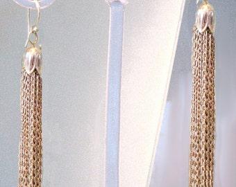 Elegant tassel earings