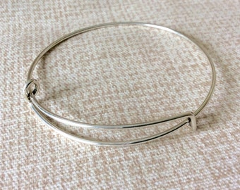 Wholesale Set Lot Set of 25-500 Silver Expandable Bracelet Adjustable Bracelets Bangle  Stackable Charm Bracelets