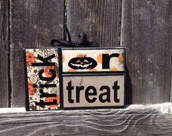 Halloween wood blocks-Trick or Treat