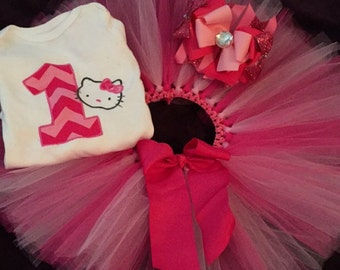 Hello kitty Birthday Tutu set