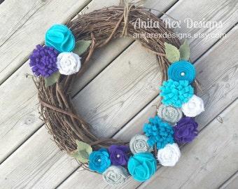 Rustic Burlap Wreath, Burlap Flower Wreath, Rustic Wreath, Year Round Wreath, Burlap Wreath, Burlap Decor