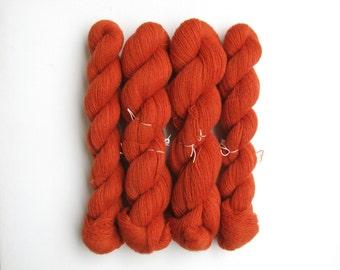 Destash Cashmere Lace Recycled Yarn, Four Skeins, 1880 Yards, Burnt Orange, READ DESCRIPTION