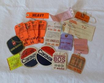 Lot of Airlines Tags~~Used Luggage Baggage Claim Tags~~China Airlines~~Aer Lingus~~Varig~~~Aerovias Venezolanas~~Airline Hatch Tags