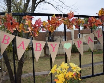 Baby Shower Burlap Banner - Baby Shower - Welcome baby Boy  Shower decor  Baby birth - Baby Announcement