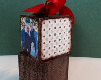 Family Photo Block Ornament