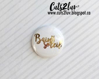 "Badge 1 ""metal Sun Golden"