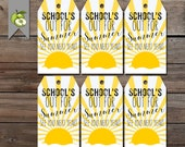 gift tags, summer sun, Teacher gift, end of year tag, beach tote, Teacher gift tag, gift tag, Gift Tag, Thank you, Printable DOWNLOAD