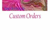 Custom Order For Karen, Set of 2 Navy Blue Hanging Hand Towels, Kitchen Towels