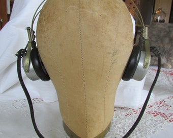 Vintage 1920s Headphones Steampunk Aviator Western Electric 1920s Retro
