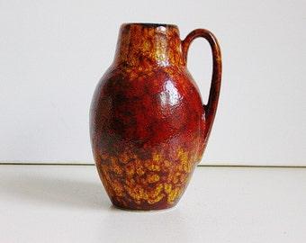 Scheurich ceramic keramik handled vase West Germany WGP