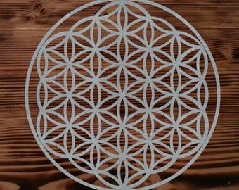 "10"" x 10"" flower of life decal"