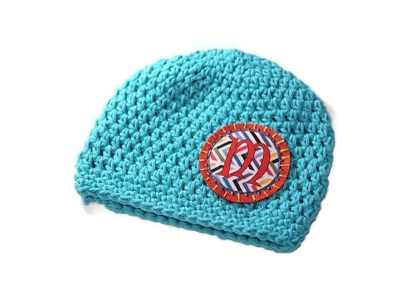 Crocheting Letters Into A Hat : Hat Baby Beanie Girls Hat Crochet Cotton Beanie by MaineCoonCrafts