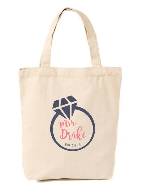 Wedding Gift Bags For Bridal Party : Bridal Tote, Wedding Party Bag, Personalized Gift, Bridal Bags, Bride ...