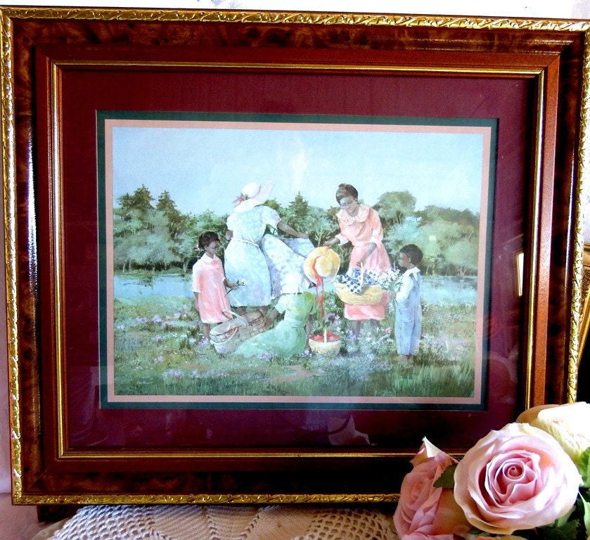 Ann Mount Art Print A Summer Outting Country Picnic