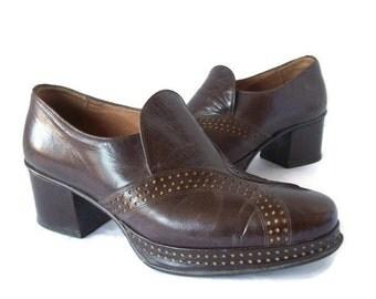 Men's 1970's Platform Slip-On Shoes