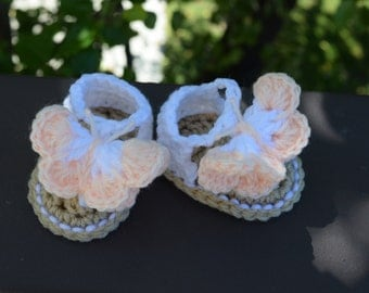 Crochet Butterfly Sandals