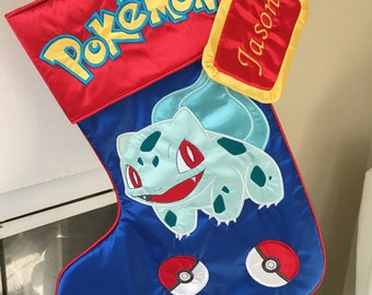 "Pokemon ""Bulbasaur"" Christmas Stocking"
