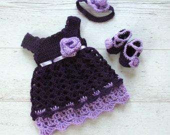Easter Dress, Little Girl Dresses, Heirloom Dresses, Little Girls Dress, Eggplant Dress, Vintage Style Dress, Purple  Dress, Easter Dresses