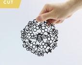 Little Busy Bee Papercut