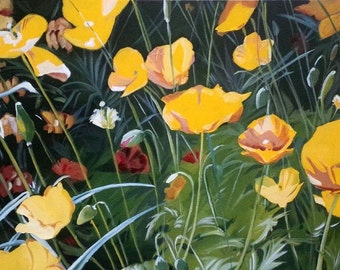 Field of Poppies. 18 x 36.