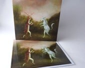 "Single Greetings Card of an original painting: ""The Midsummer Sarabande"""
