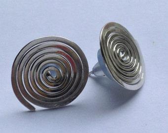 Spiral earrings 925-Silver