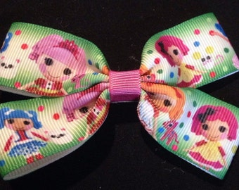 Lala loopsy print boutique hair bow