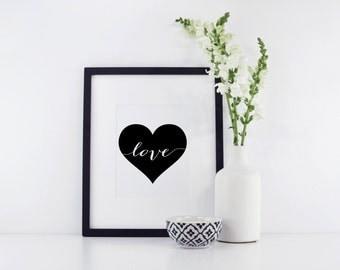 Love Print - Modern Love Print - Heart Print