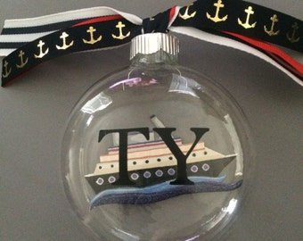 Personalized Cruise Ship Ornament-Cruise Ornament-Personalized Gift