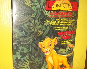 1994 Disneys Lion King Movie Song Book for Xylotone