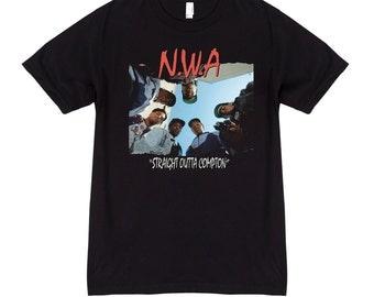NWA Dre Eazy Cube Ren Yella Straight Outta Compton Album Cover Hip Hop T shirt