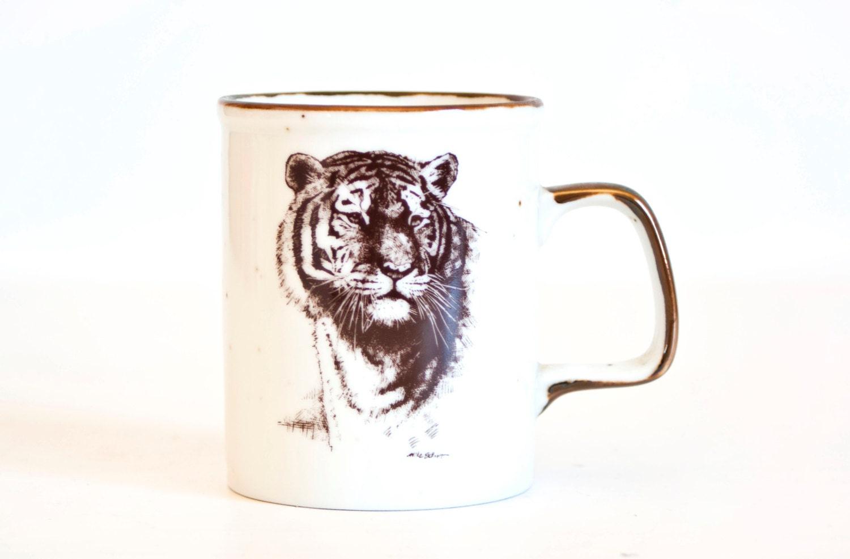 Vintage Tiger Coffee Mug San Diego Zoological Society Coffee
