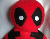 Handmade Deadpool Plush Toy/Plushie/Deadpool/Stuffed Toy/Stuffed Animal