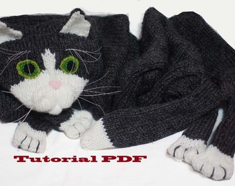 Cat Scarf Pattern PDF file  Knitting a Cat Scarf Pattern Patterns For Knitting