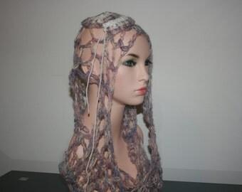 No: 26 Freeform crochet hat, wearable art, OOAK