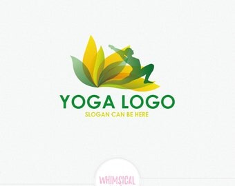 Worrior Pose in Lotus Flower Logo - strong colors Logo - peacful logo -  Yoga  Logo Design