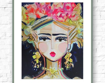 Frida Kahlo Print on paper or canvas
