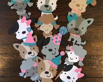 Puppy Dog Cupcake Toppers, Puppy Party, Dog Adoption Party, Puppy Party Decor, Puppy Cupcake Toppers