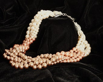 Graduate to Bronze Multi-Strand Pearl Necklace