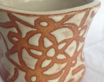 Floral Shino Mug