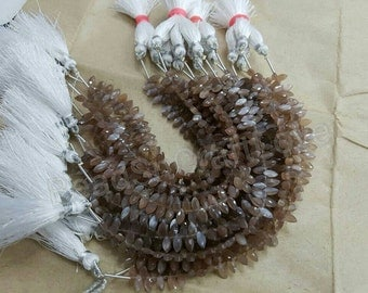 Chocolate or Brown moonstone Markis shape faceted beads, 4x7mm 50 pieces        AAA quality