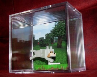 """MineCraft Wolf""""Display"""" Ready To Ship...intended for Display..will come out of case..Brand New..."""