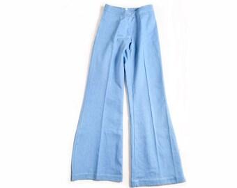 Vintage 70's Light Blue Denim Bell Bottom Jeans