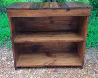 Bookshelf, Solid Wood Bookshelf, Reclaimed Wood Bookshelf, Toy Shelf, Shoe Shelf, Office Furniture, TV Stand, Media Stand
