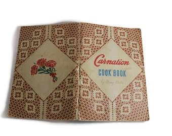 Evaporated Milk Vintage Cookbook 1940s  Condensed Milk Bridal Shower Recipe Party Food Ideas Kitchen Shower Vintage Gift Carnation Recipes